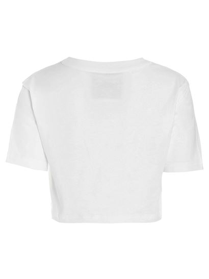 Moschino - Inside Out Teddy Bear crop t-shirt in white