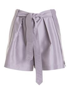 Emporio Armani - Silk and wool shorts in purple