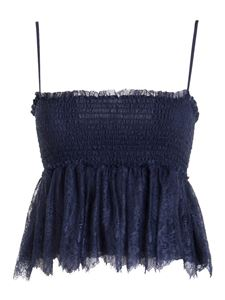 Ermanno by Ermanno Scervino - Lace detailed tank top in blue