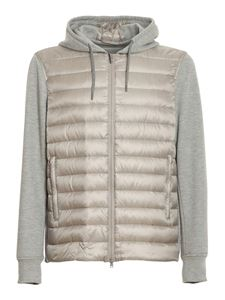 Herno - Padded front hoodie in grey