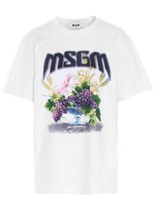 MSGM - Front print t-shirt in white
