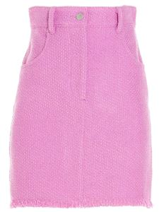 MSGM - Micro fringed skirt in pink