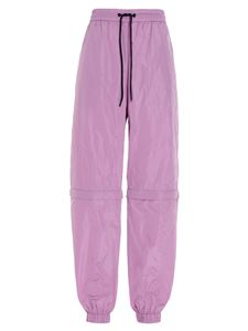 MSGM - Black coulisse track pants in purple