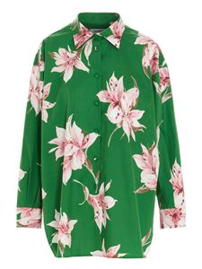Valentino - All-over floral print shirt in green