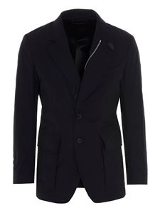 Tom Ford - Tech canvas jacket in blue