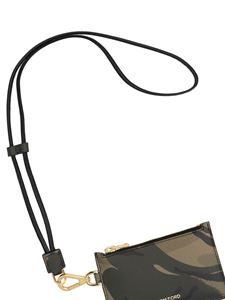 Tom Ford - Camouflage leather card holder in green