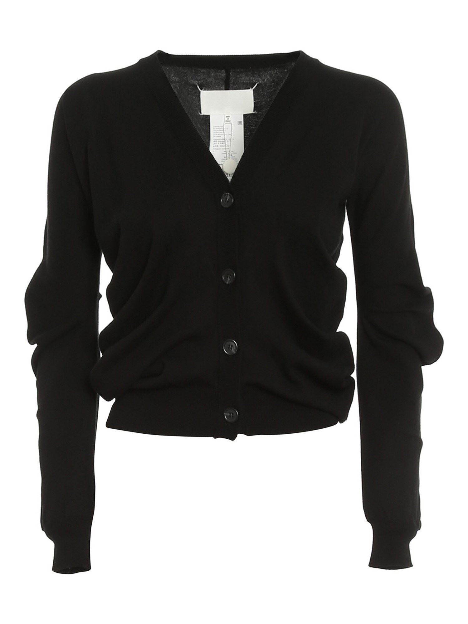 Maison Margiela ASYMMETRIC CARDIGAN IN BLACK