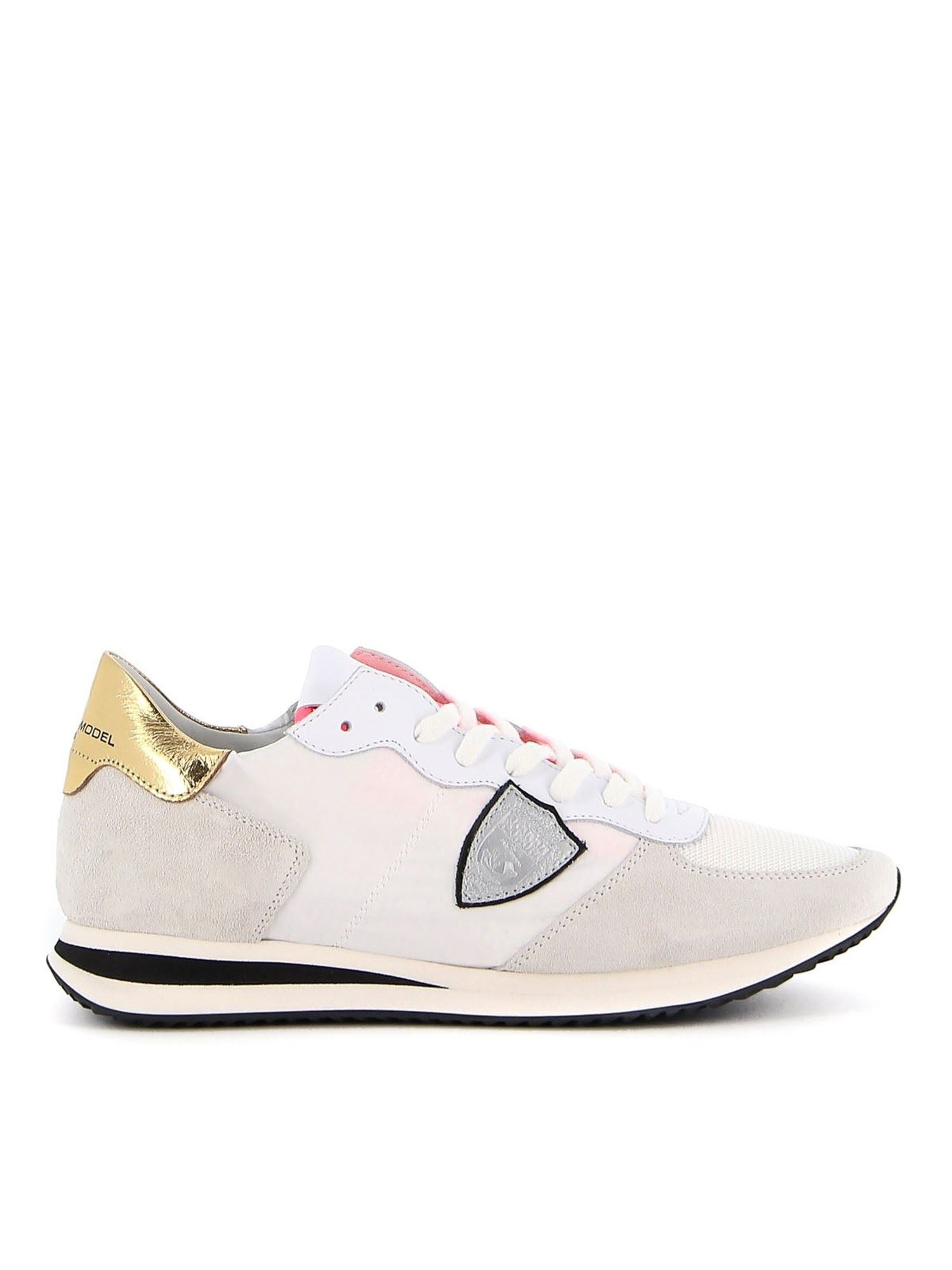 Philippe Model TRPX LOW MONDIAL NEON SNEAKERS IN WHITE