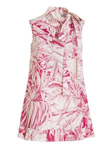 Red Valentino - Jungle Toile print tank top in white and pink