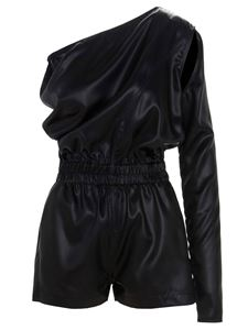 Rick Owens - One shoulder jumpsuit in black