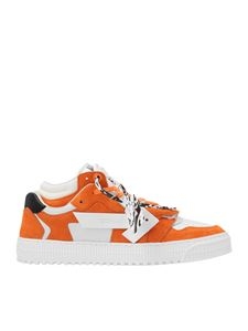 Off-White - Floating Arrow sneakers in orange and white