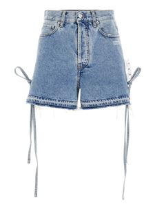 Off-White - Ribbons shorts in light blue