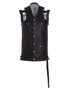 Rick Owens - Unstructured waistcoat in black