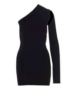 Rick Owens - Athena Cape Sleeve dress in black