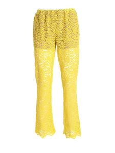 Semicouture - Semi-transparent pants in yellow
