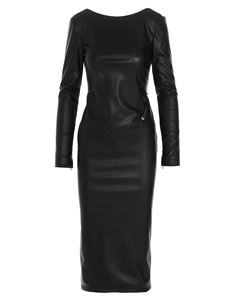 Tom Ford - Eco leather dress in black