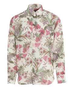 Tom Ford - Floral print shirt in white