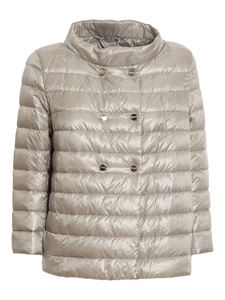 Herno - Double-breasted padded jacket in grey