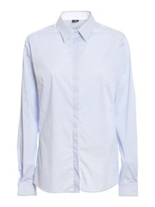 Fay - Striped cotton shirt in light blue
