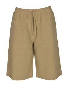 Roberto Collina - Waist drawstring bermuda shorts in sand color