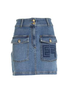 Elisabetta Franchi - Denim short skirt in blue