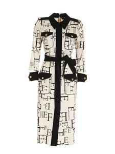 Elisabetta Franchi - Dress in black and cream color