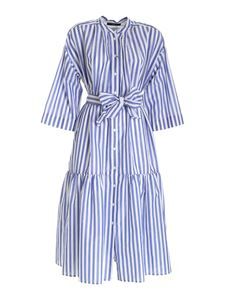 Max Mara Weekend - Verres stripes dress in white and blue