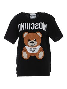 Moschino - Inside Out Teddy Bear T-shirt in black