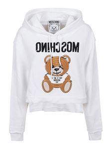 Moschino - Teddy logo hoodie in white