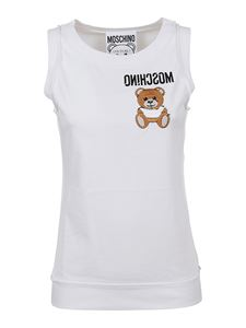 Moschino - Teddy logo tank top in white