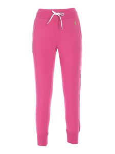 POLO Ralph Lauren - Logo embroidery joggers in fuchsia