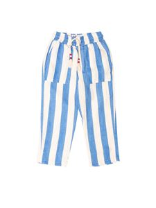 MC2 Saint Barth - Striped pants in white and blue