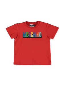 Moschino Kids - Multicolor logo T-shirt in red