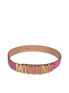 Moschino - Lettering logo belt in pink