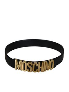 Moschino - Lettering logo belt in black