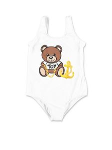 Moschino Kids - Teddy one-piece swimsuit in white
