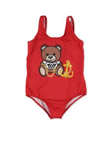 Moschino Kids - Teddy one-piece swimsuit in red