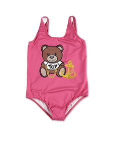 Moschino Kids - Teddy one-piece swimsuit in pink
