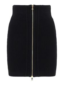 Balmain - Zipped mini skirt in black