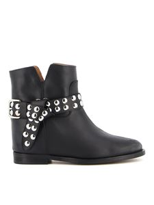 Via Roma 15 - Embellished ankle boots in black