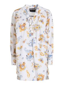 Versace Jeans Couture - Baroque print blouse in white