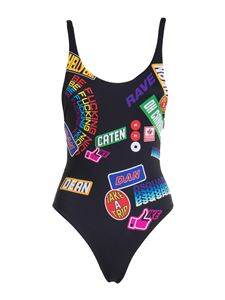 Dsquared2 - Printed one piece swimsuit in black