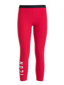 Dsquared2 - Icon print leggings in red