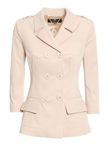Elisabetta Franchi - Double-breasted blazer in pink