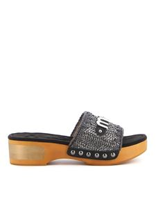 Mou - Leather and fabric clogs
