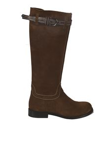 Ermanno Scervino - Strap detail boots in brown