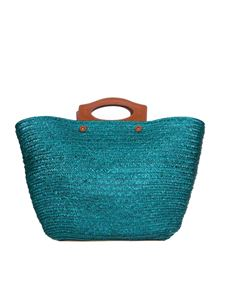 Tod's - Straw large bag in green