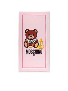Moschino Kids - Teddy beach towel in pink