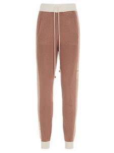 Elisabetta Franchi - Logoed band joggers in Rose Gold