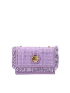 Elisabetta Franchi - Tweed pochette in Lavender color